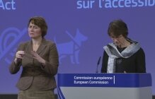 Marianne Thyssen presenting the European Accessibility Act